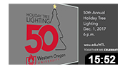 50th Holiday Tree Lighting Preview