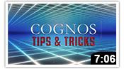 Cognos Tips & Tricks