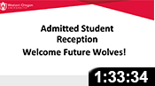 Admitted Student Reception: April 2021