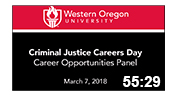 Criminal Justice Career Panel 2018