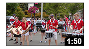 Drumline at July 4th Parade