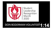 Student Leadership Recognition Month 2020: Don Boderman Volunteer