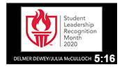 Student Leadership Recognition Month 2020: Dewey/Smith Outstanding Graduates