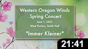 Western Oregon Winds Spring 2021 Concert