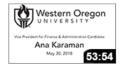 VPFA Candidate: Ana Karaman