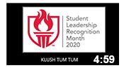 Student Leadership Recognition Month 2020: Klush Tum Tum