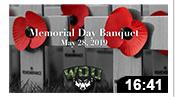 Memorial Day Banquet 2019
