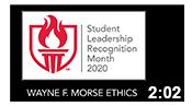 Student Leadership Recognition Month 2020:  Wayne F. Morse Ethics
