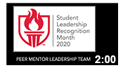 Student Leadership Recognition Month 2020: Peer Mentor 1