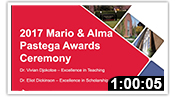 2017 Mario & Alma Pastega Awards Ceremony