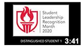 Student Leadership Recognition Month 2020: Distinguished Leader 1