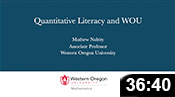 Quantitative Literacy and WOU