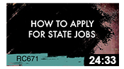 RC671: How to Apply for State Jobs