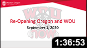 Re-Opening Oregon and WOU