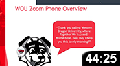 WOU Zoom Phone Training Session